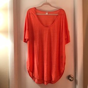 Old Navy XXL Orange Curved Hem Shirt